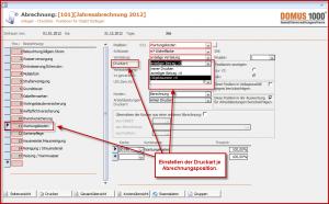 Screenshot DOMUS 1000 Abrechnung Hausgeld