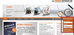 DOMUS_4000_Login_Kundenbereich