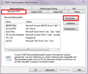 DOMUS_4000_ODBC Administrator