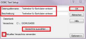DOMUS_4000_ODBC Setup